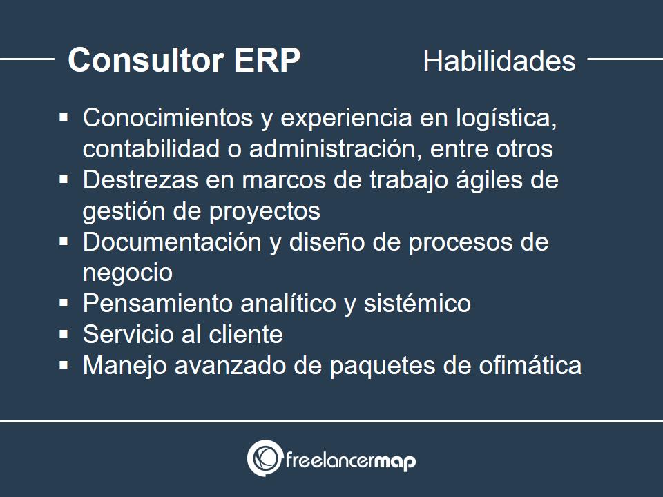 Habilidades y conocimientos del consultor ERP