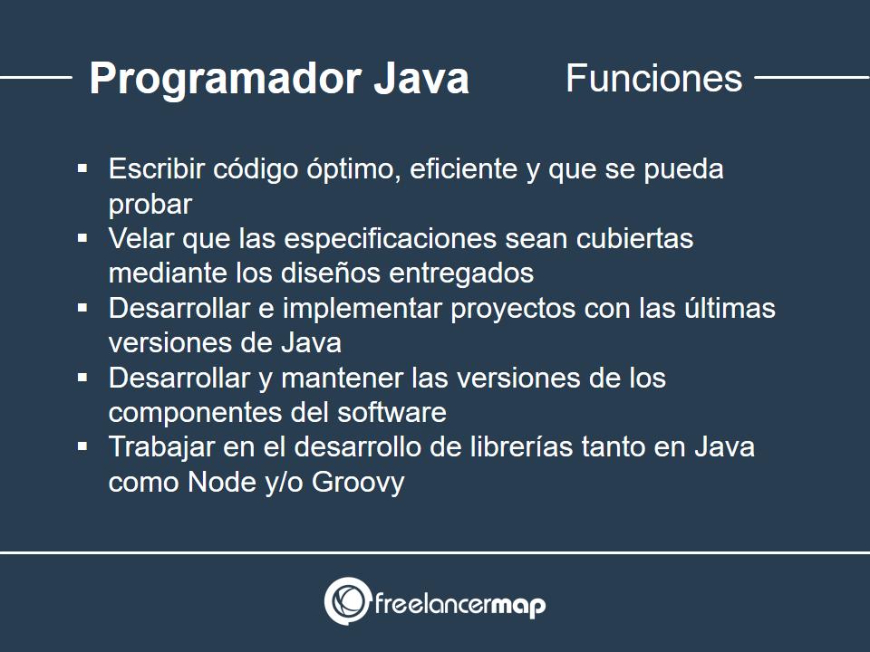 Responsabilidades del programador Java