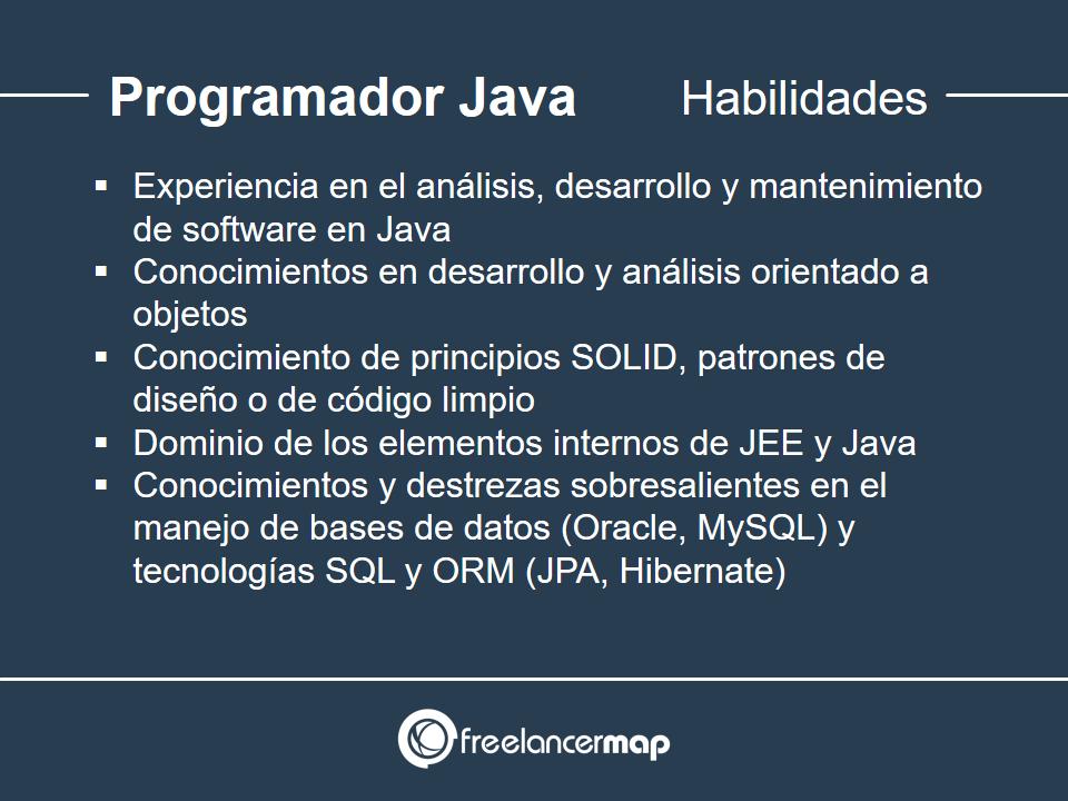 Habilidades y conocimientos del programador Java
