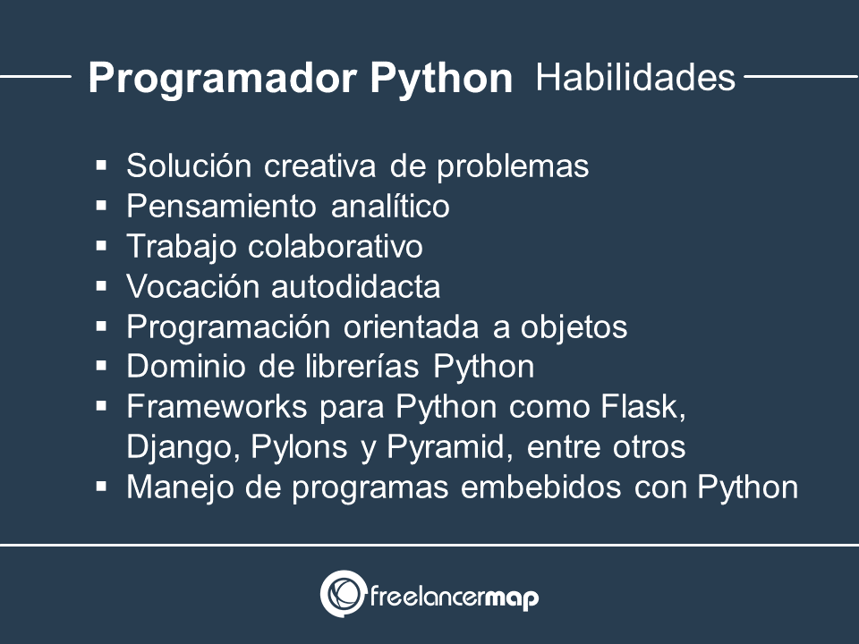 Habilidades y conocimientos del programador Python