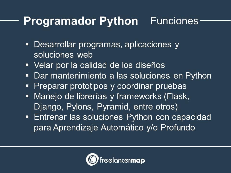 Responsabilidades del programador Python