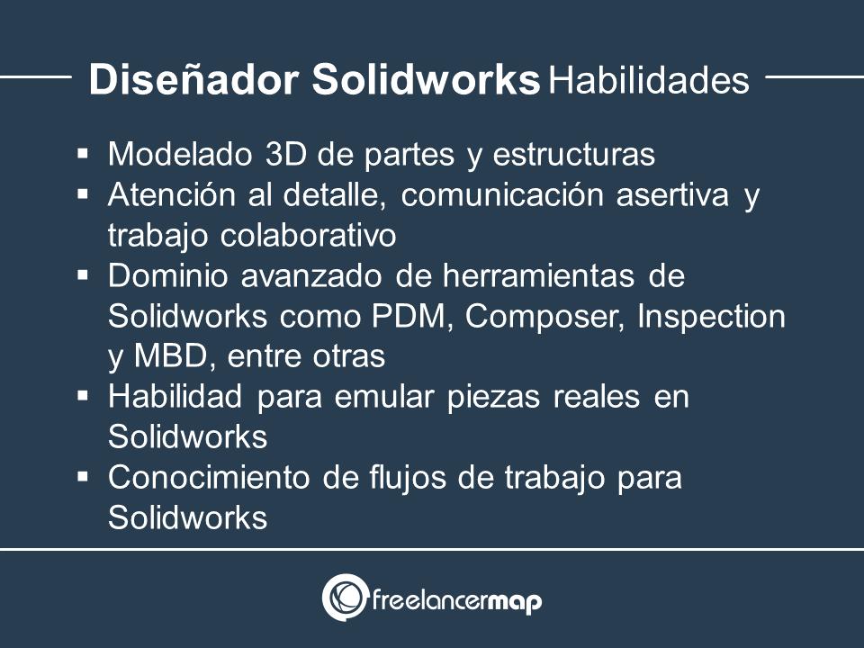 Habilidades y conocimientos de diseñador Solidworks