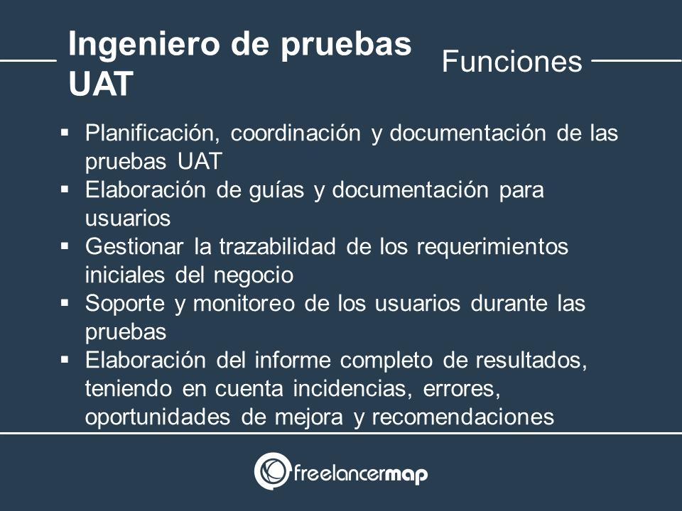 Responsabilidades del ingeniero de pruebas de aceptación (UAT)