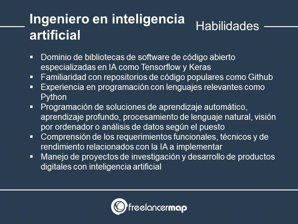 Habilidades y conocimientos del especialista en inteligencia artificial