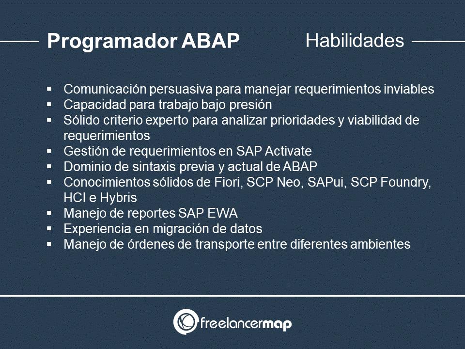 Habilidades y conocimientos del programador ABAP