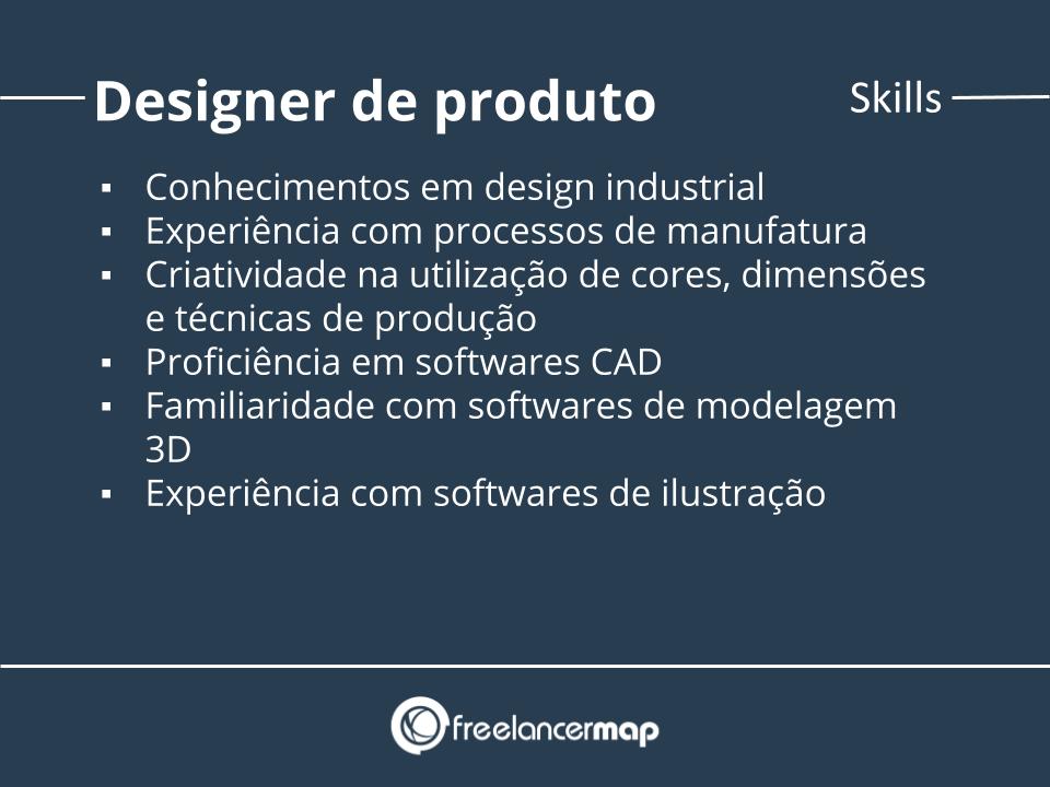Skills de um designer de produto.