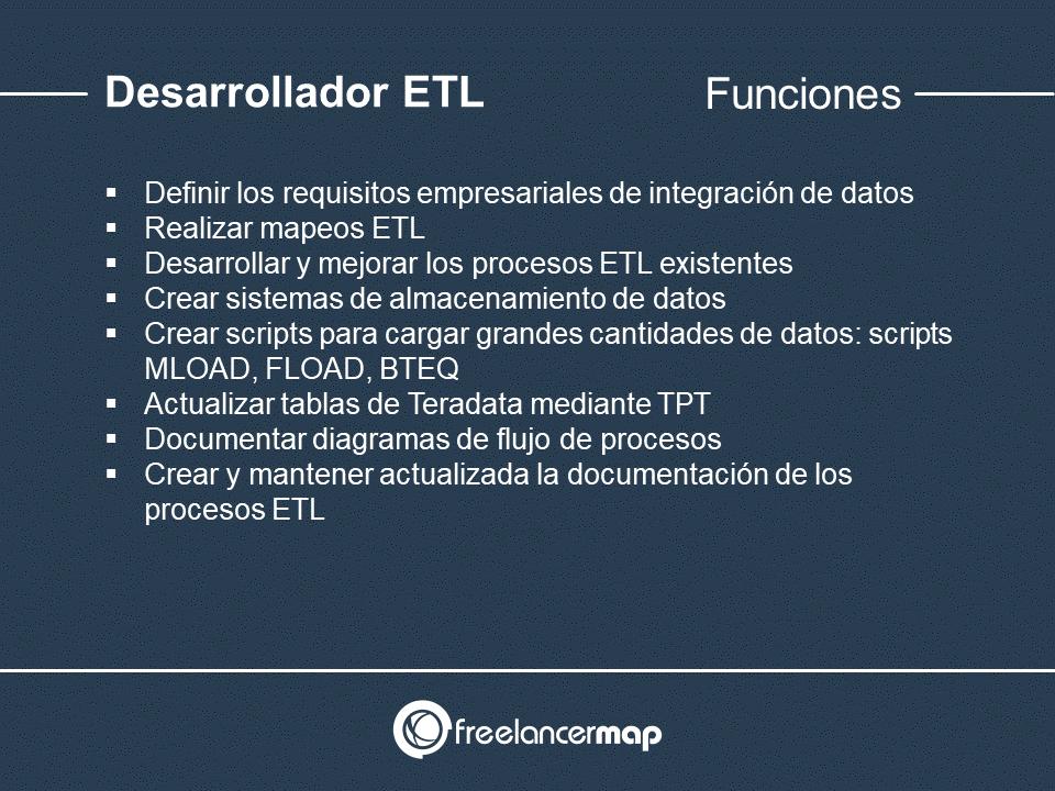 Responsabilidades del desarrollador ETL
