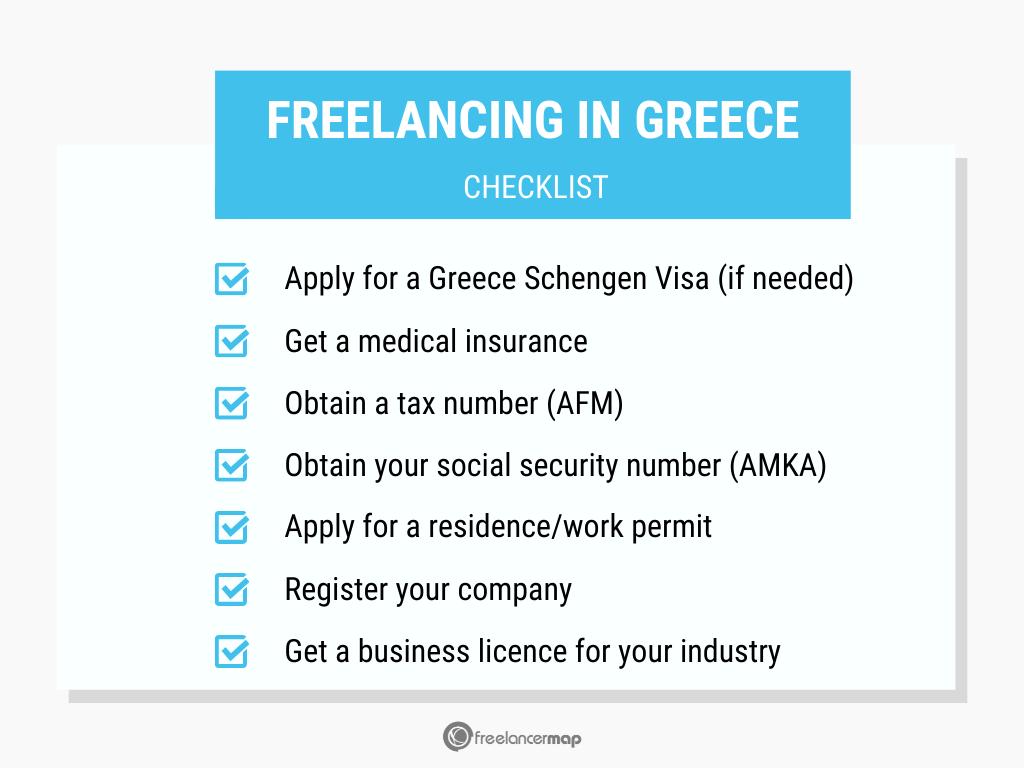 Checklist freelancing in Greece