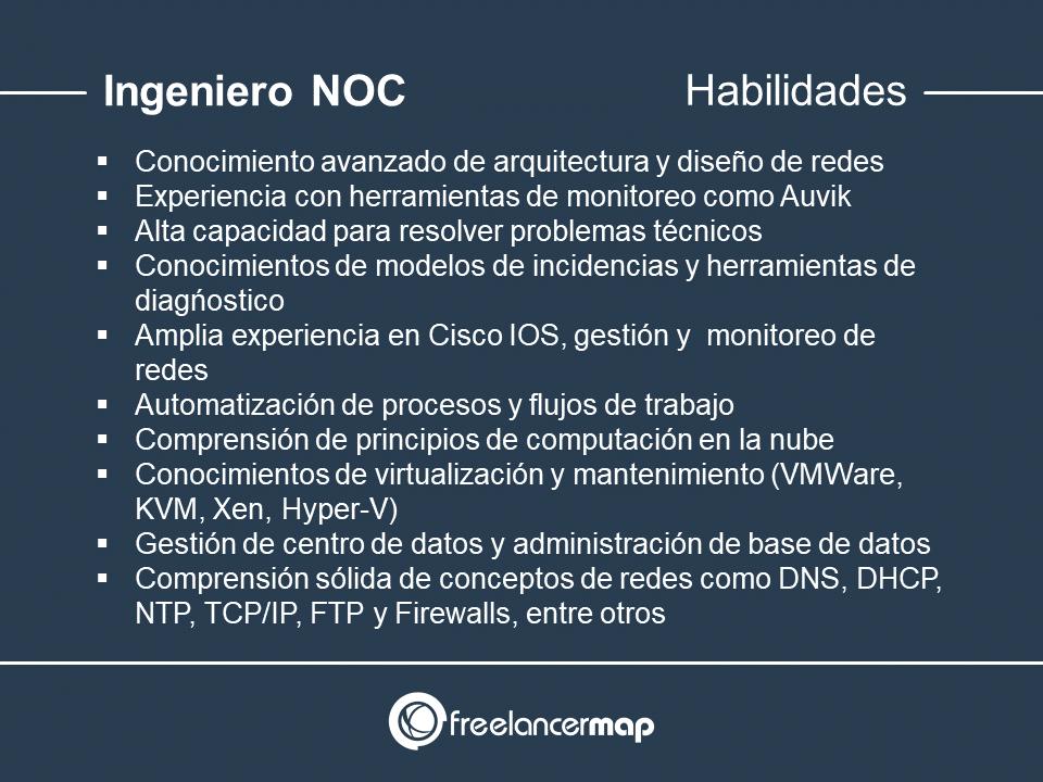 Habilidades y conocimientos del técnico NOC