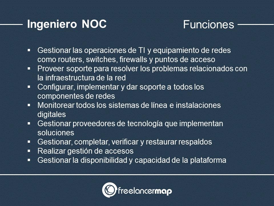 Responsabilidades del técnico NOC