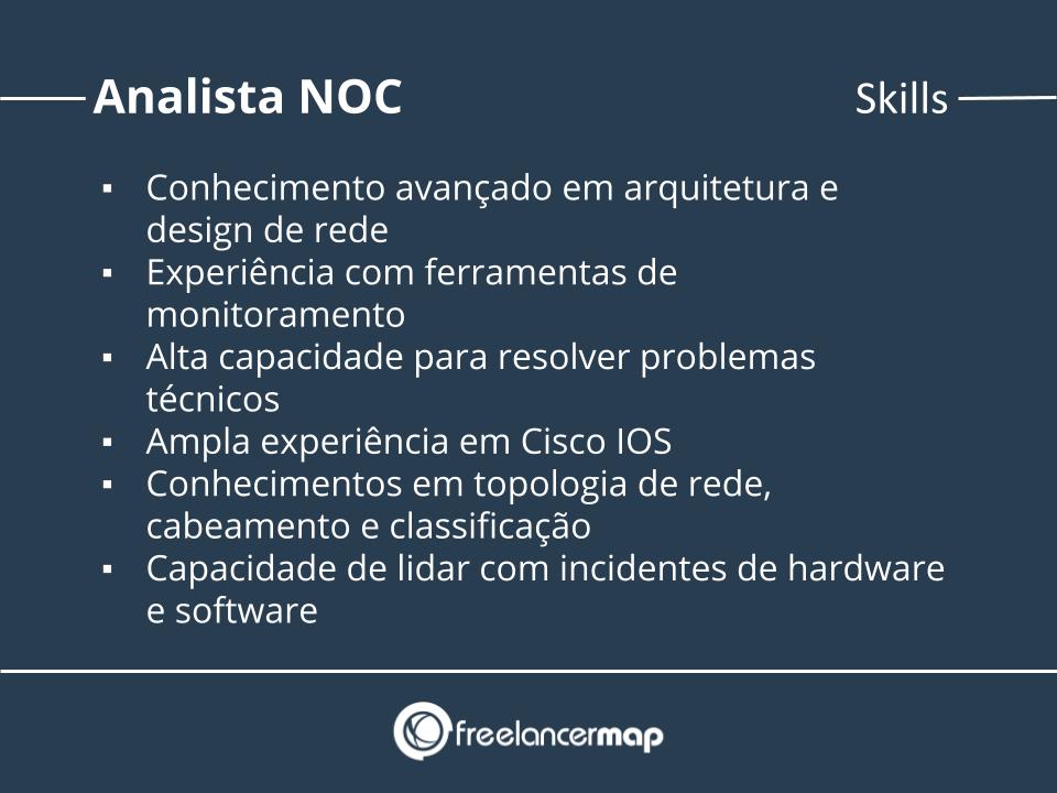 Habilidades de um analista NOC.