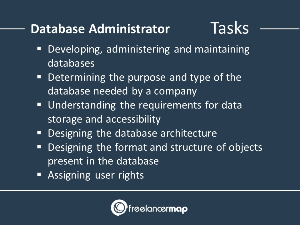 Responsibilities Of A Database Administrator