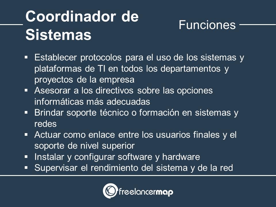 Responsabilidades del coordinador TIC