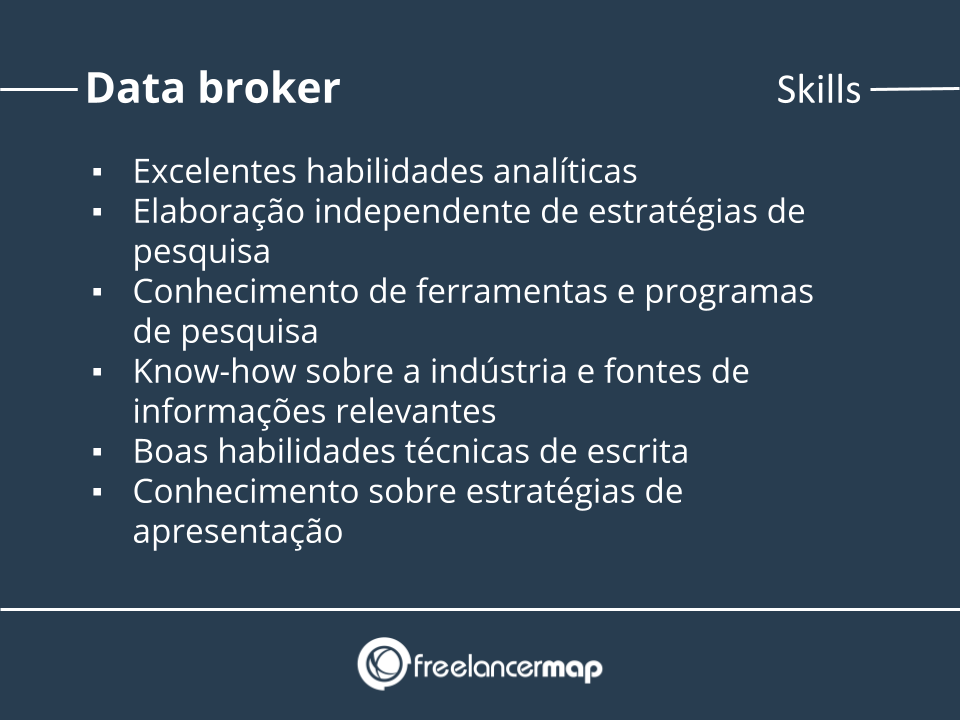 Skills de um data broker.