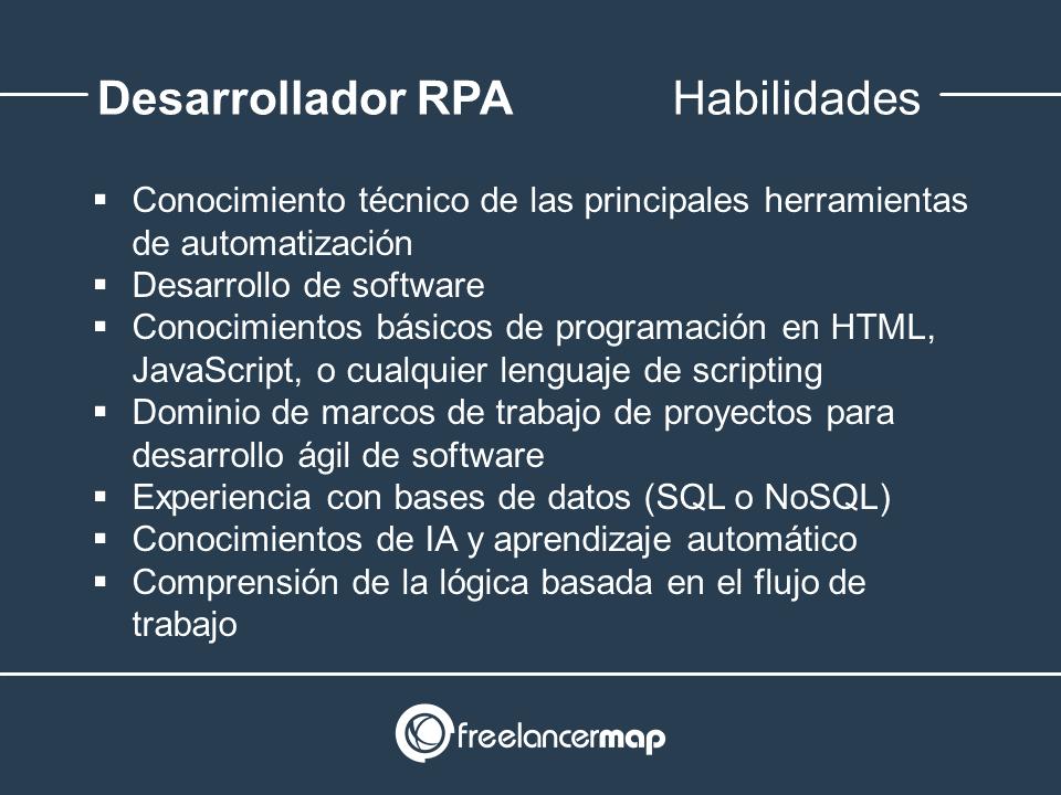 Habilidades y conocimientos del programador RPA