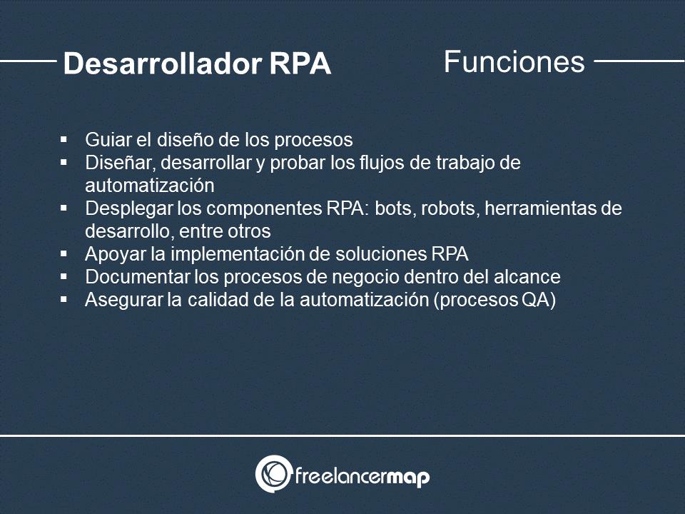 Responsabilidades del programador RPA
