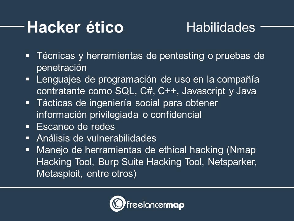Habilidades y conocimientos del hacking ético