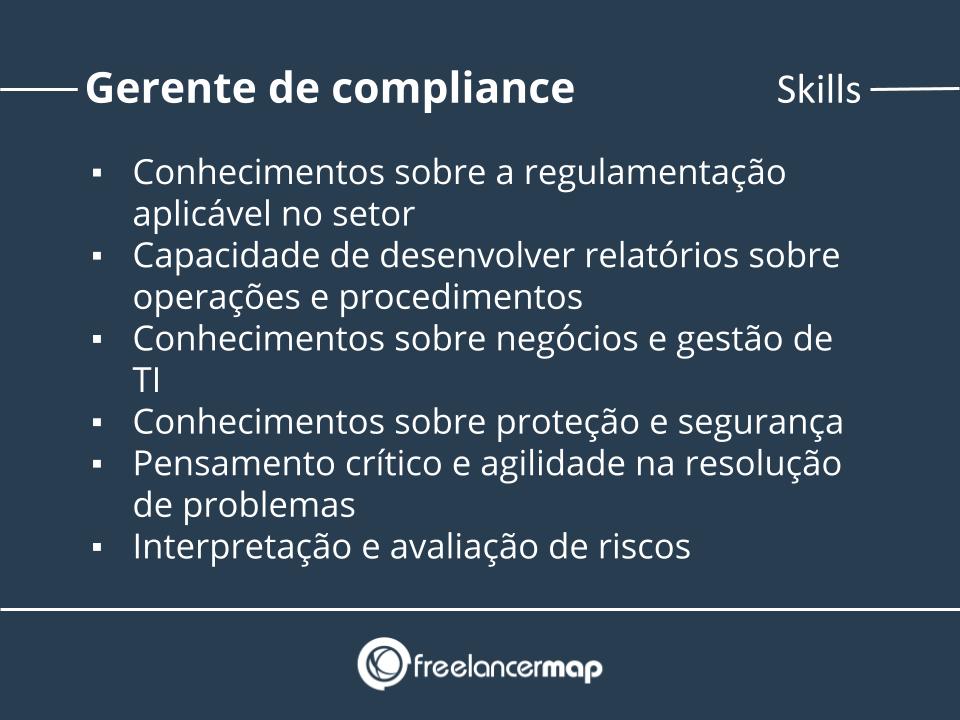Skills de um gerente de compliance.