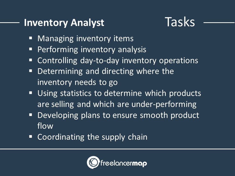 Inventory Analyst - Responsibilities