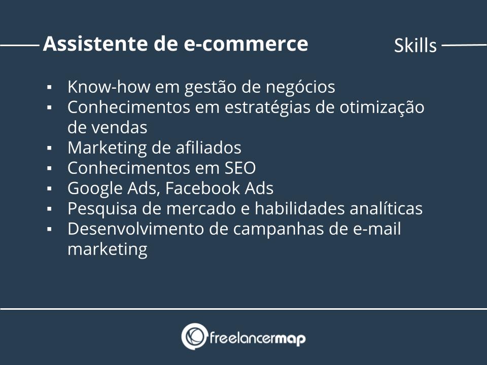 Skills de um assistente de e-commerce.