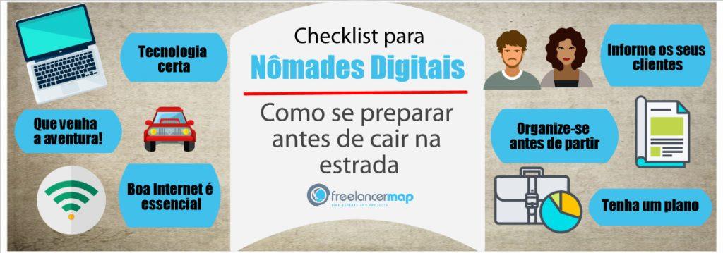 Checklist para nômades digitais