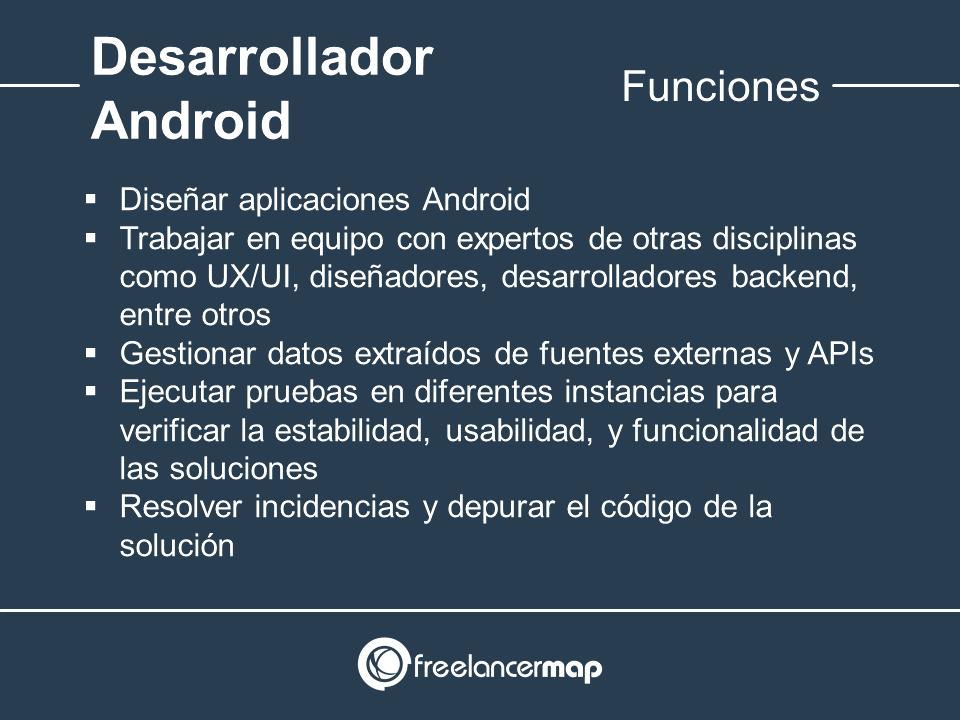 Funciones del programador Android