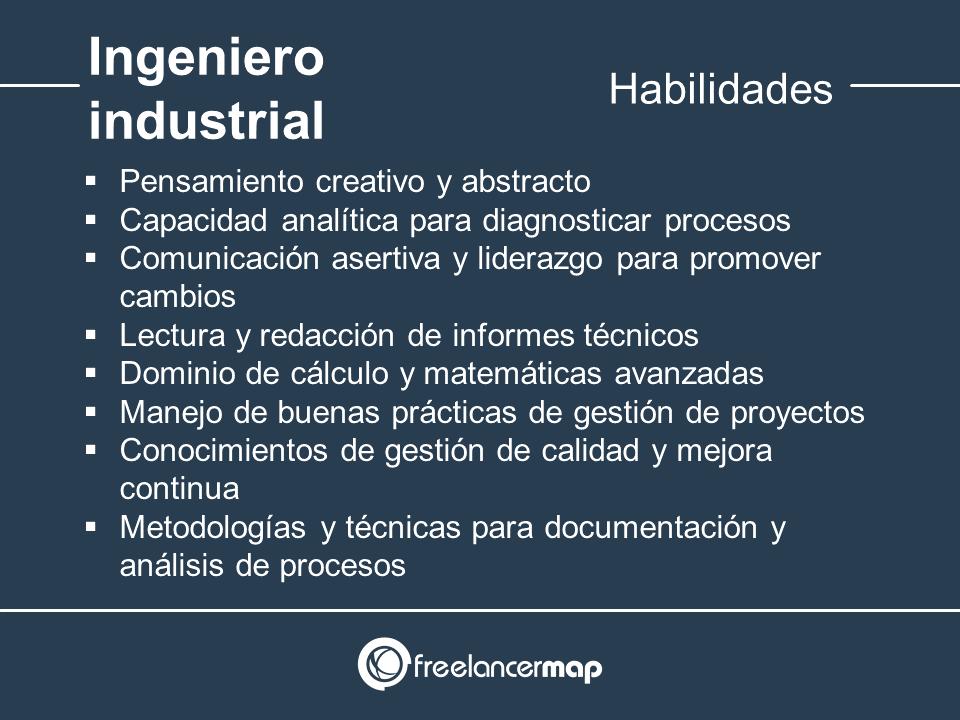 Habilidades y conocimientos del ingeniero industrial