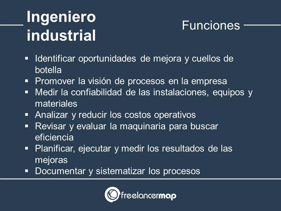 Responsabilidades del ingeniero industrial
