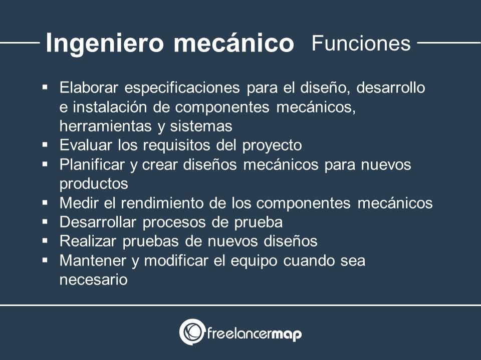 Responsabilidades del ingeniero mecánico