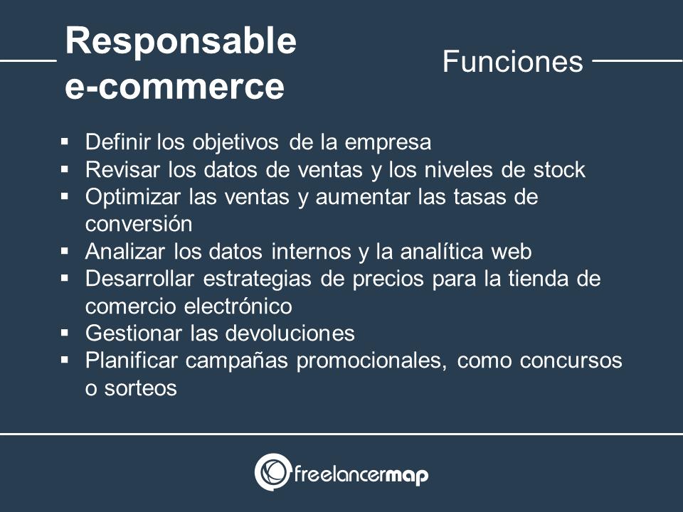 Responsabilidades del supervisor de e-commerce