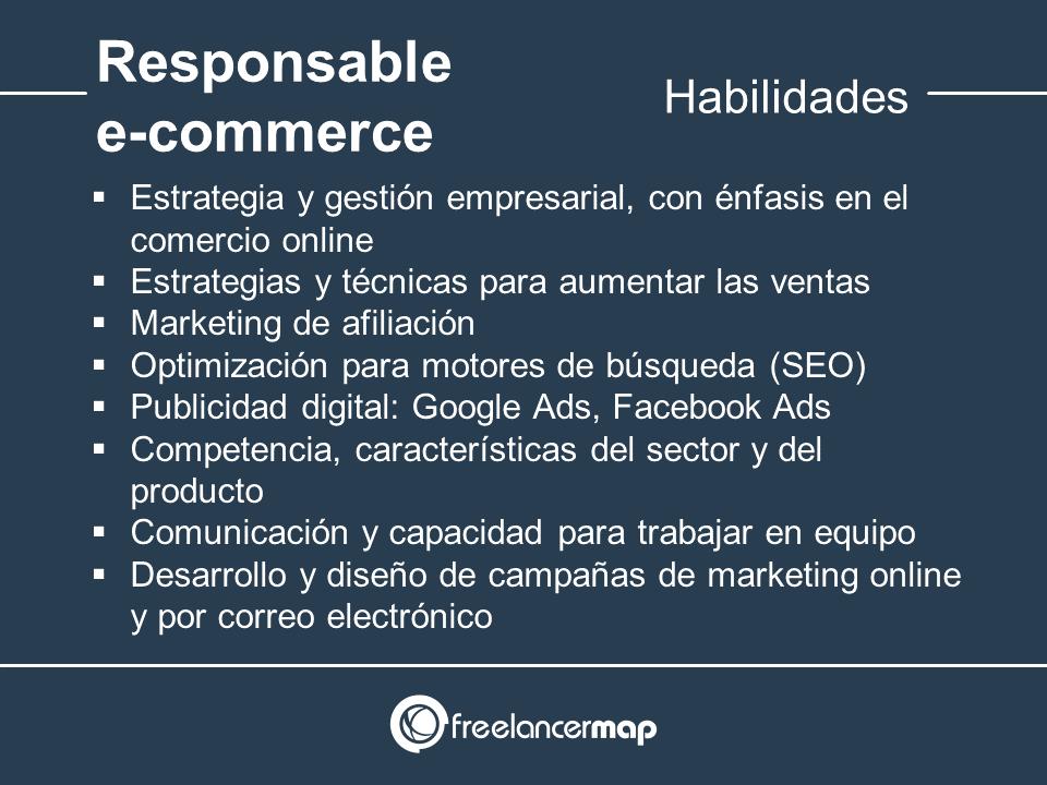Habilidades y conocimientos del responsable de e-commerce