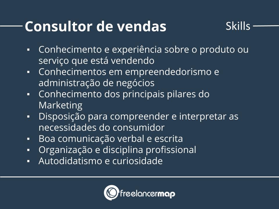 Skills de um consultor de vendas.