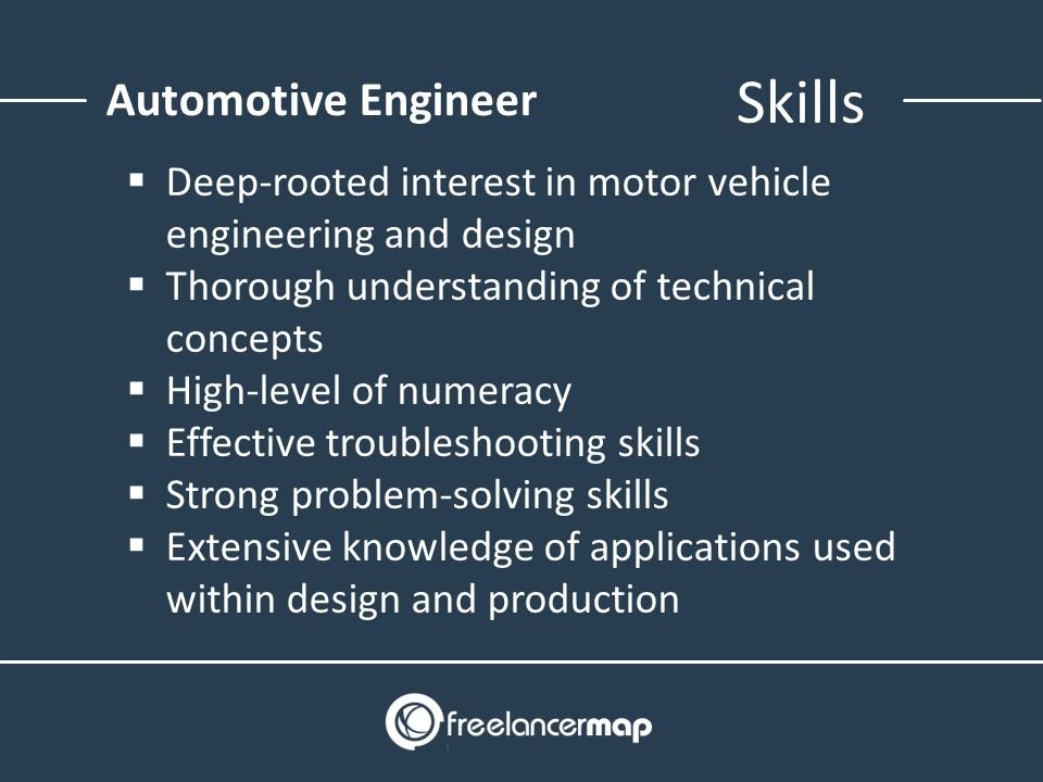 Skills Of An Automotive Engineer