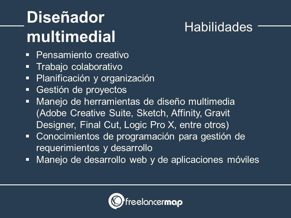 Habilidades y conocimientos del diseñador multimedial