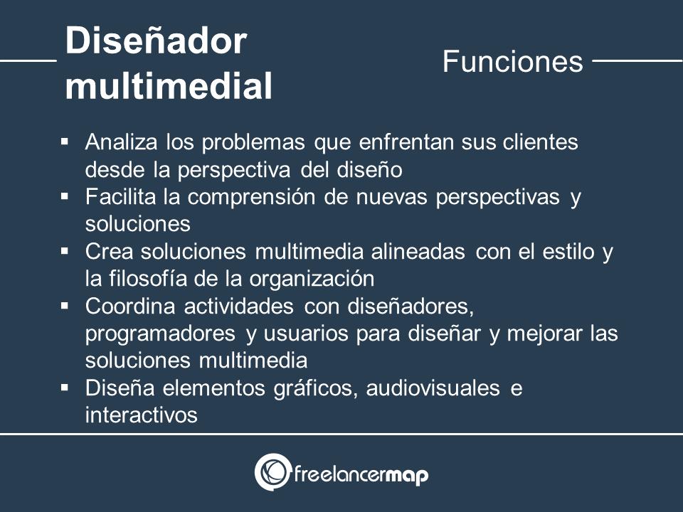 Responsabilidades del diseñador de multimedia