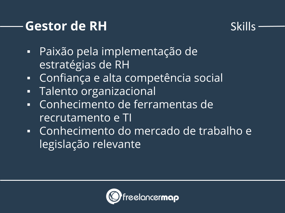 Skills de um gestor de RH.