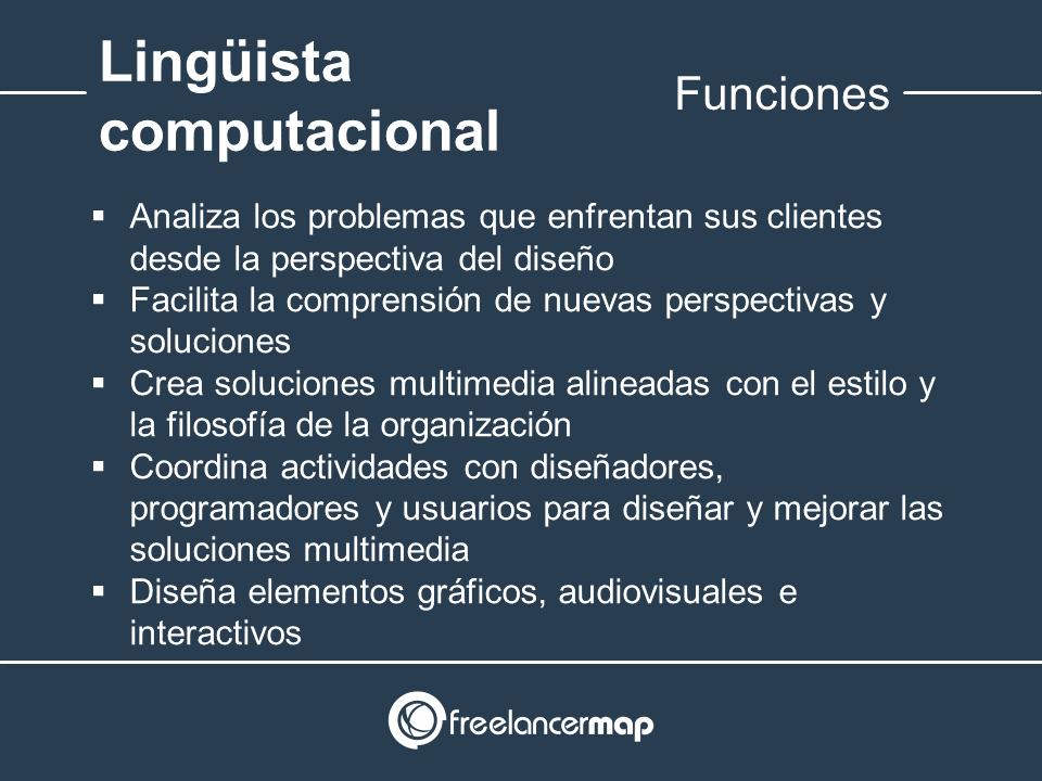 Responsabilidades del linguista computacional