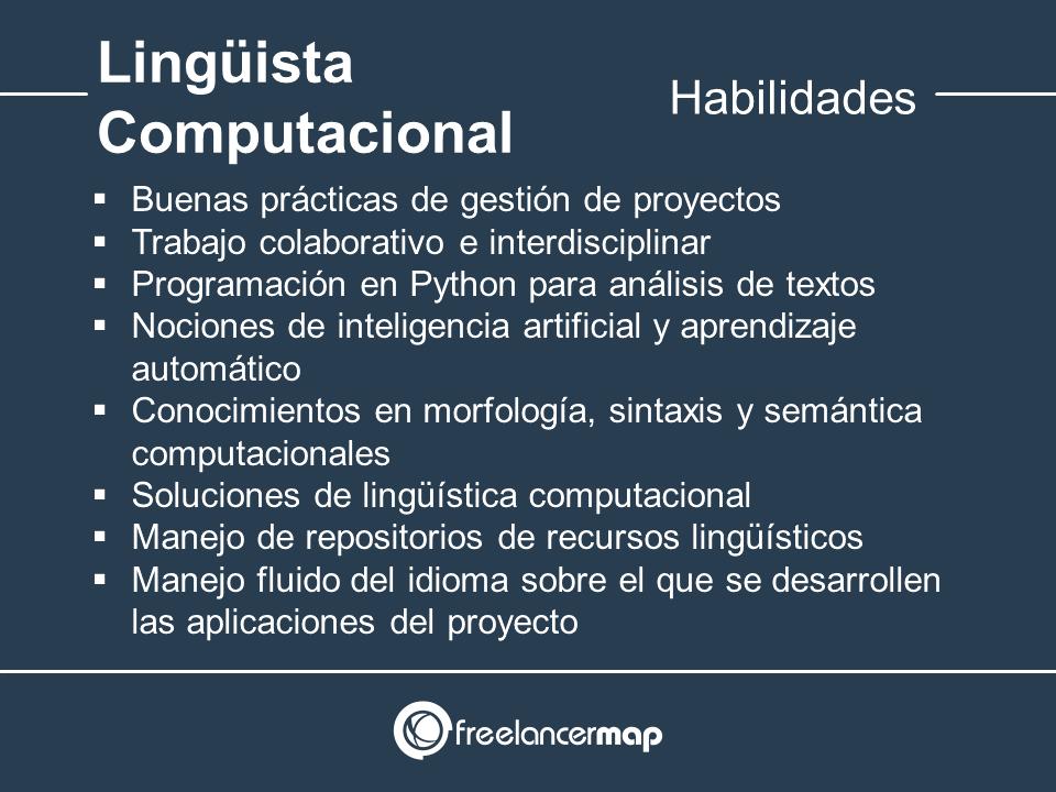 Habilidades y conocimientos del lingüista computacional