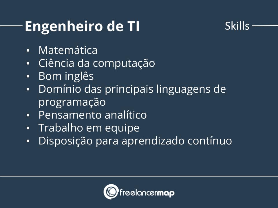 Skills de um engenheiro de TI.