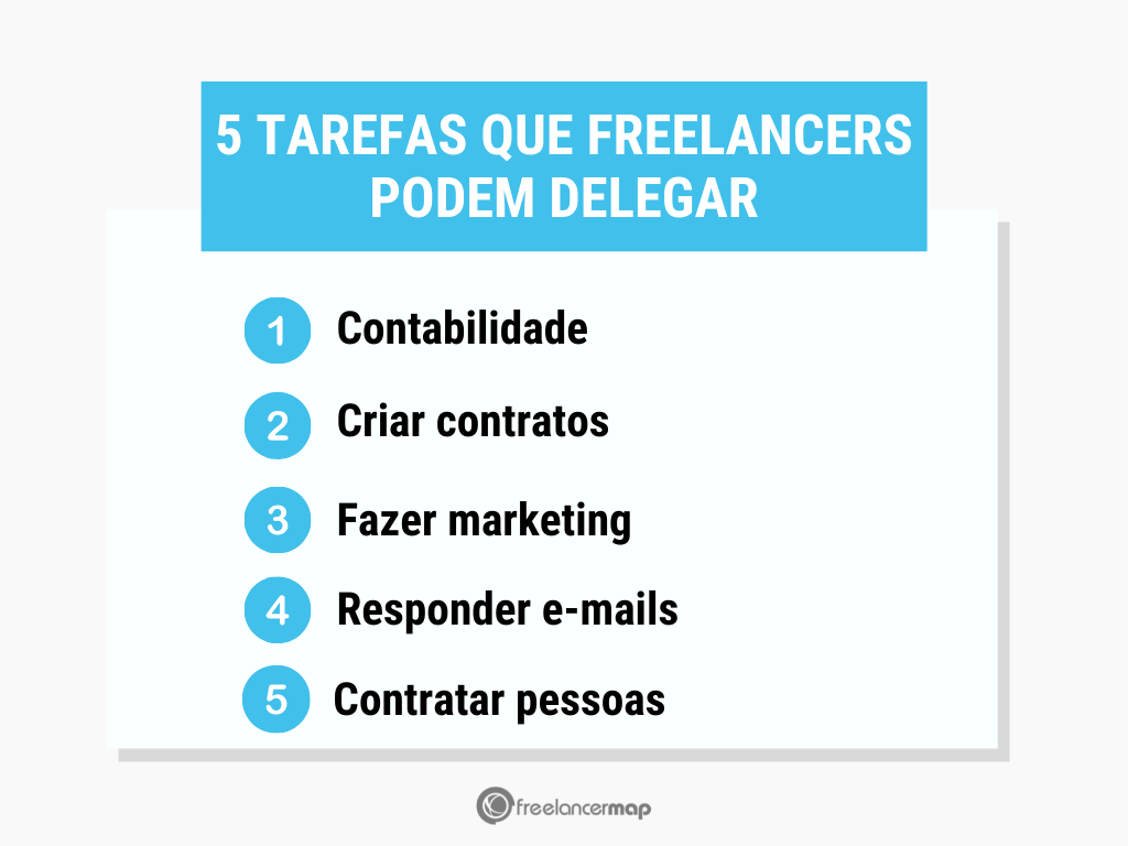 5 tarefas que freelancers podem delegar