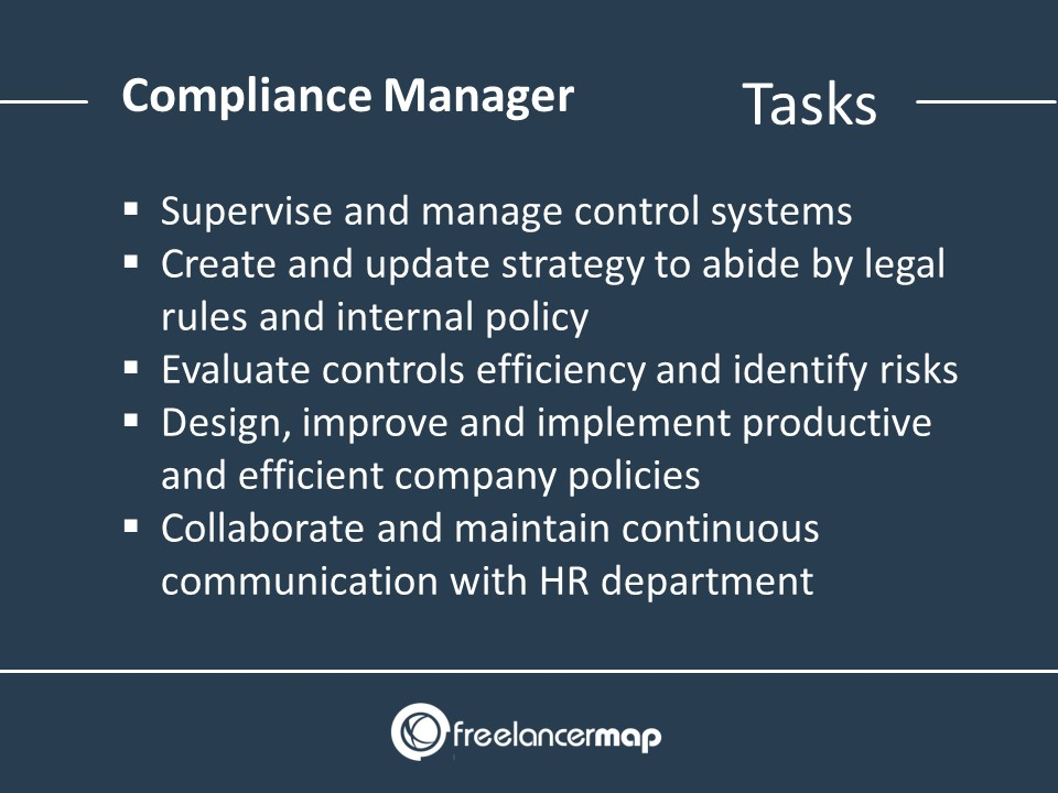Compliance Manager Responsibilities