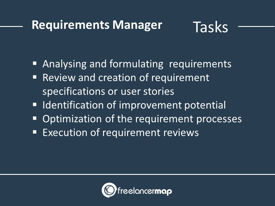 Responsibilities and tasks in the field of requirements management