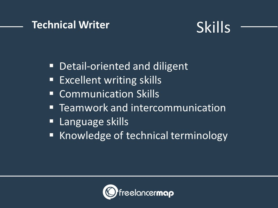 List of skills required as a Tech Writer Skills