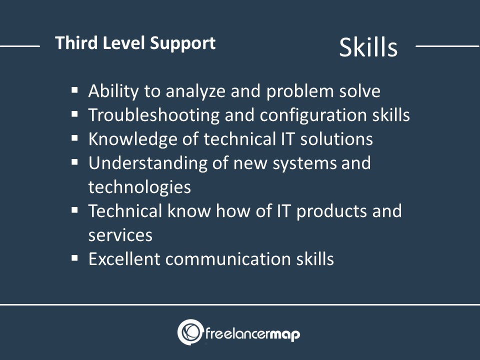 3rd Level Support Skills